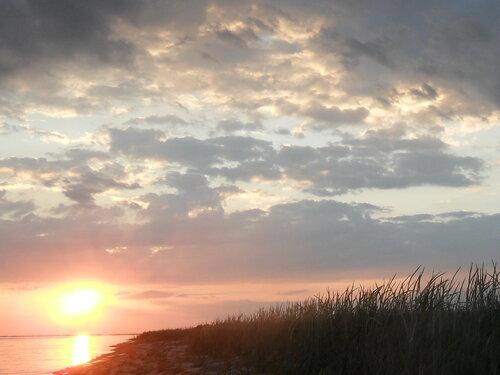 Лето, вечер на берегу лимана