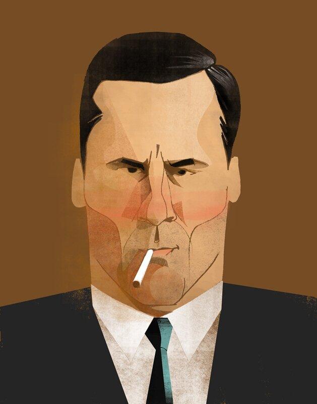 john jay illustration.Don Draper