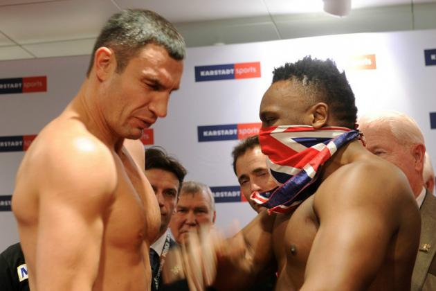 Фото 6 Кличко и Чисора пощечина
