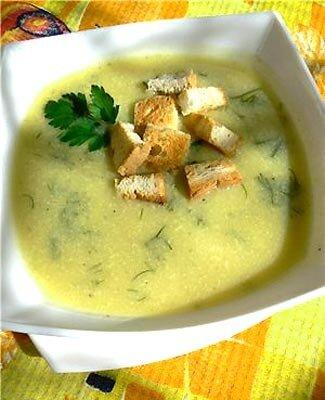 Кабачковый суп-пюре с сыром