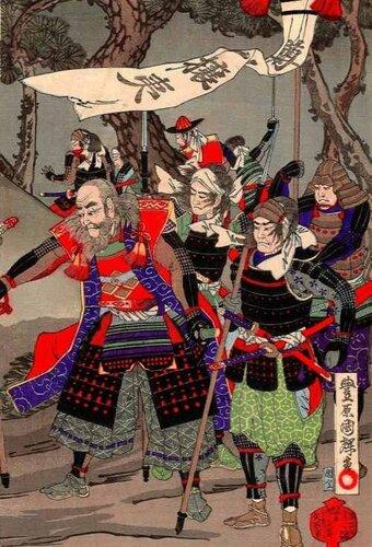 мятежные самураи под знаменем Sonnō Joi.