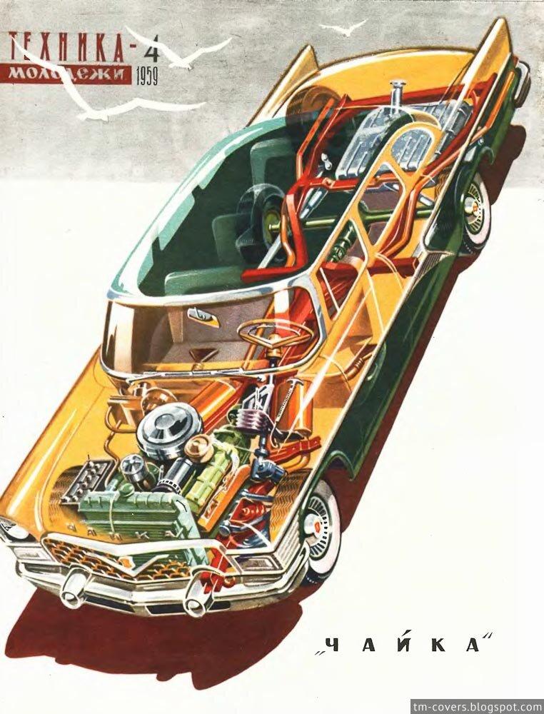 Техника — молодёжи, обложка, 1959 год №4