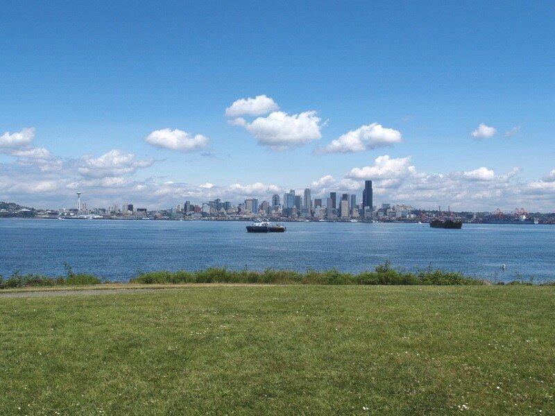 Вид из Западного Сиэтла