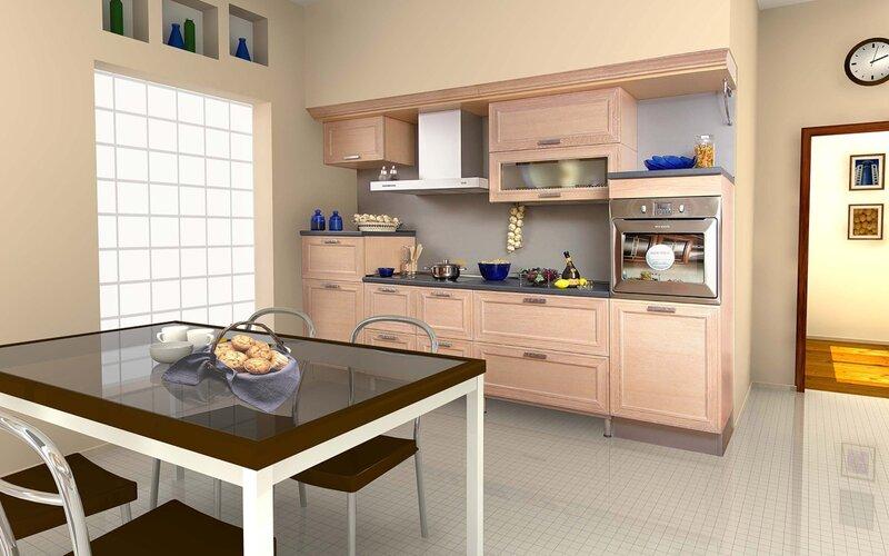Кухня 5 кв.м дизайн с холодильником в