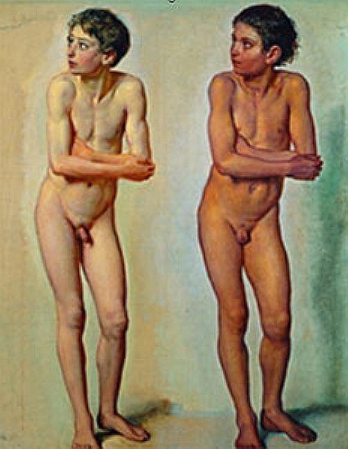 А.А.Иванов. Обнажённый мальчик. Эскиз. 1830-1840-е