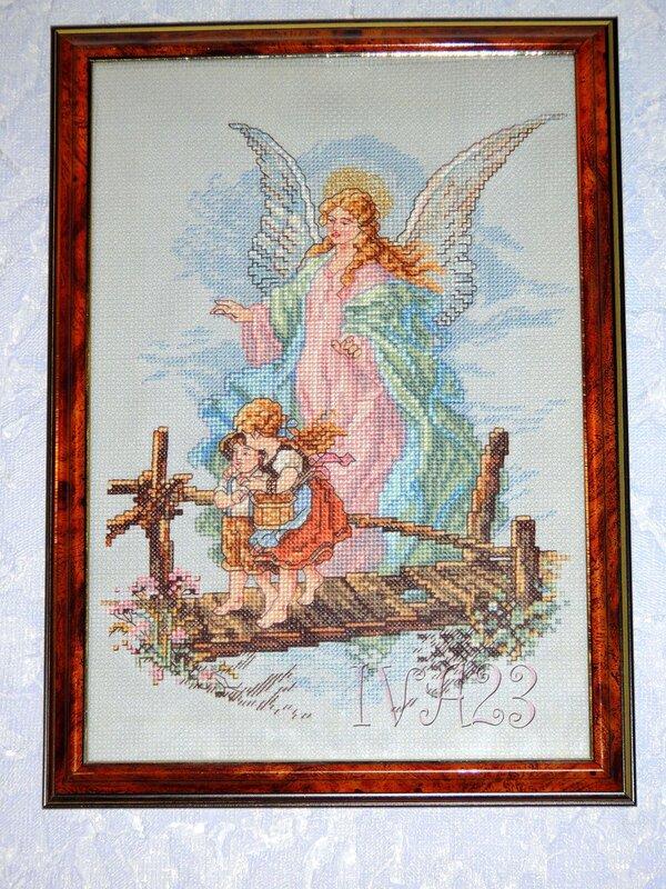 Ангел-хранитель для Викуси Вышивка крестом.