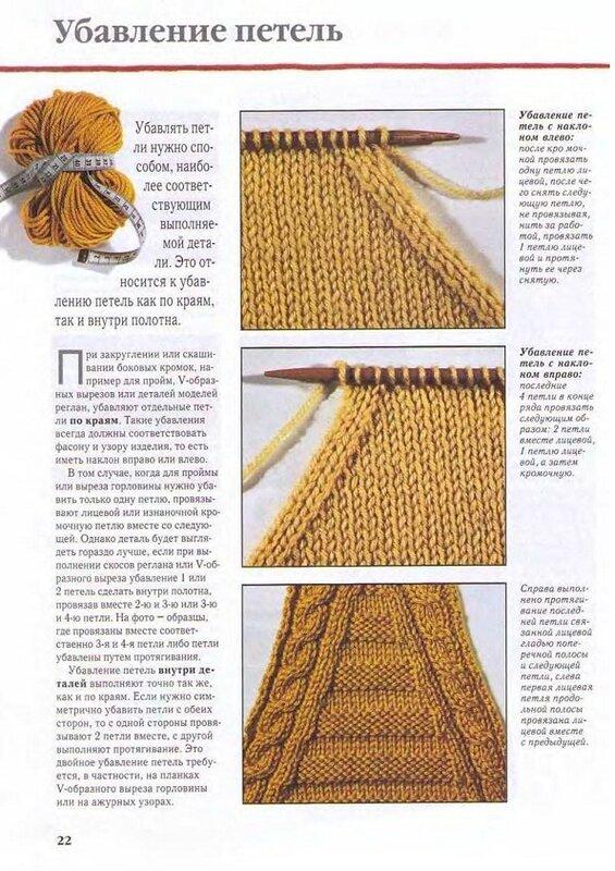 Как при вязании шапки убавлять петли