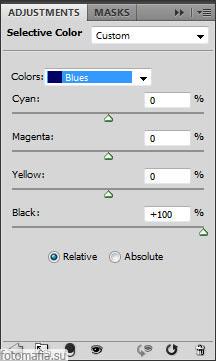 корректирующий слой selective color