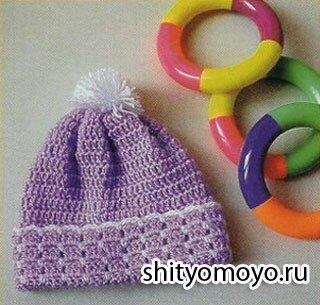 Вязание для детей: бесплатные модели вязания крючком: сиреневая шапочка