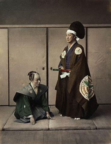 Actors Portray <Daimyo> and Servant