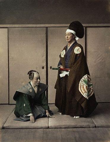 Actors Portray <Daimyo> and Servant