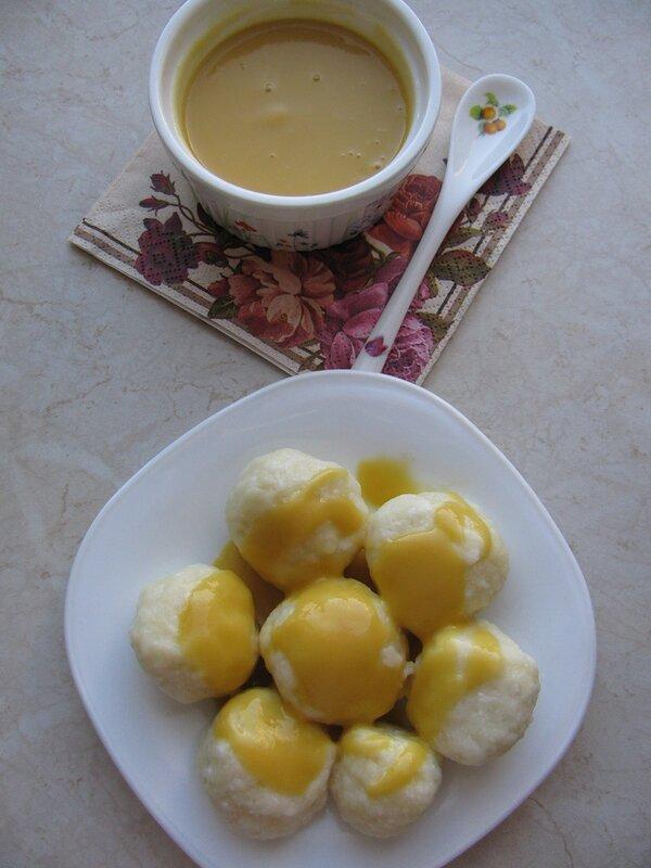 Творожные ньокки с соусом