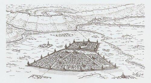 Графическая реконструкция крепости
