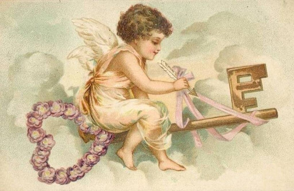Рисунки ангела с крыльями раскраска и купидоны 40