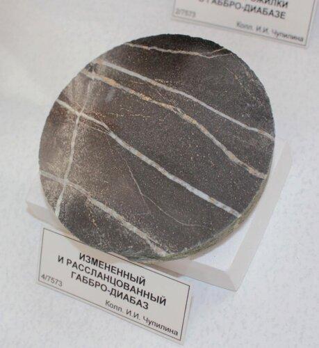 Изменённый и рассланцованный габбро-диабаз
