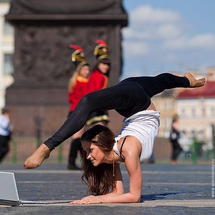 Фото гимнастка фото на улице — 4