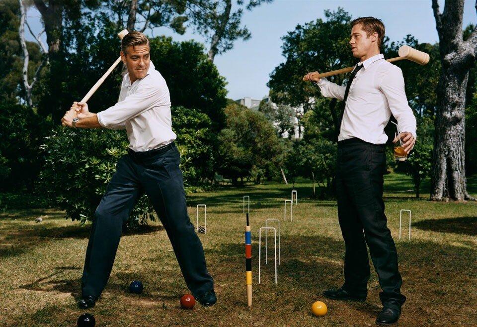 Photographs by Martin Schoeller.Брэд Питт (Brad Pitt) и Джордж Клуни (George Clooney)