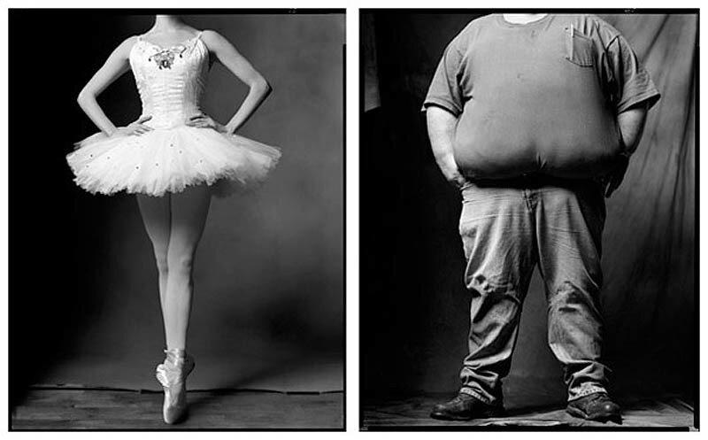 """«Created equal» (""""Сотворенные равными"""") by Mark Laita.Балерина / Водитель грузовика,"""