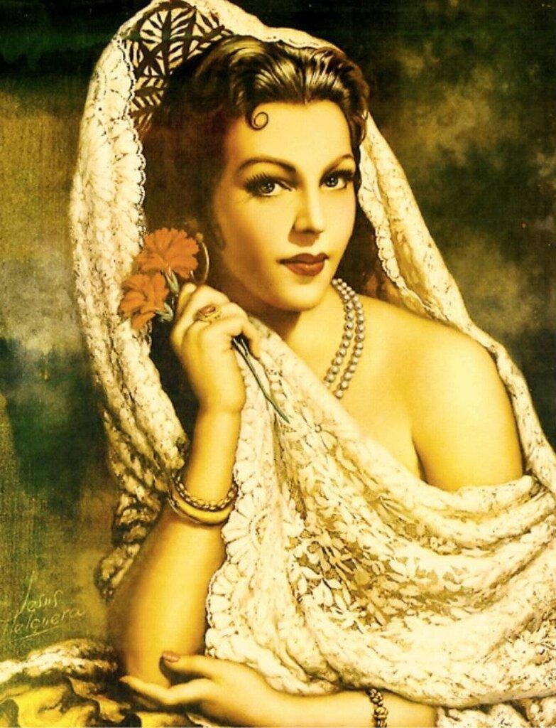 """Схема вышивки  """"Прекрасные латиноамериканки """" ."""