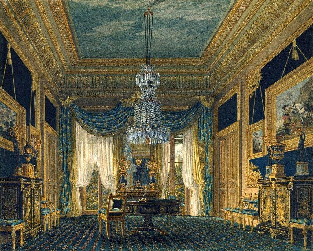 Carlton House: Голубой бархат гардероб  1818