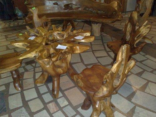 Мебель из спилов дерева фото