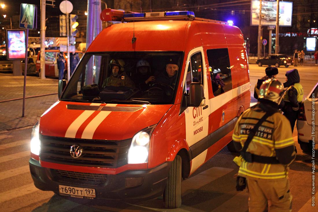 учения пожарной охраны в метрополитене