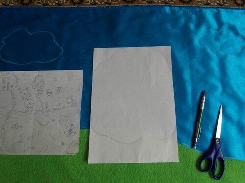 Развивающий коврик... учимся делать выкройки