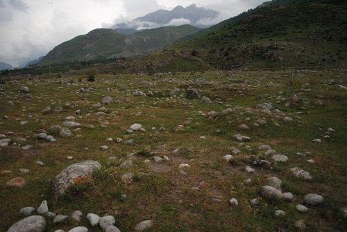 Могильники около Верхней Балкарии