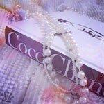 Фото, Коко Шанель, милый, ожерелья, жемчуг.