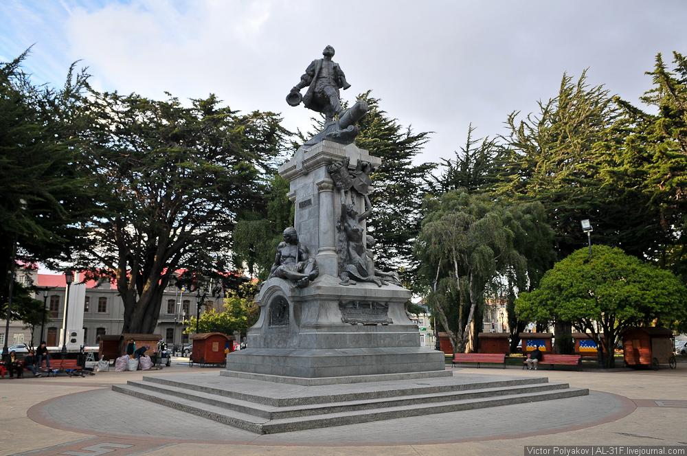 Памятник Магеллану в Пунта-Аренас