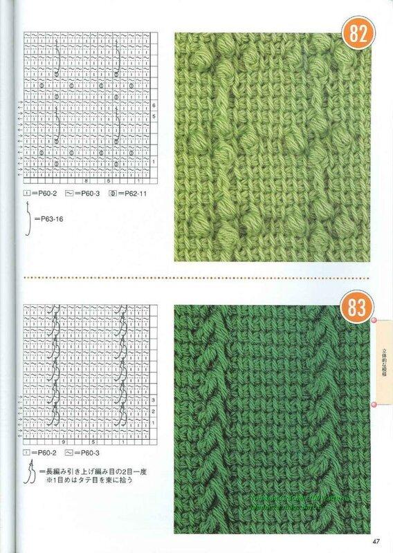 Схемы для тунисского вязания крючком 93