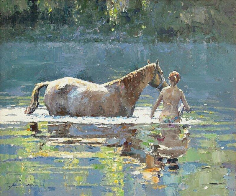 Алексей Зайцев. Купание коня.jpg