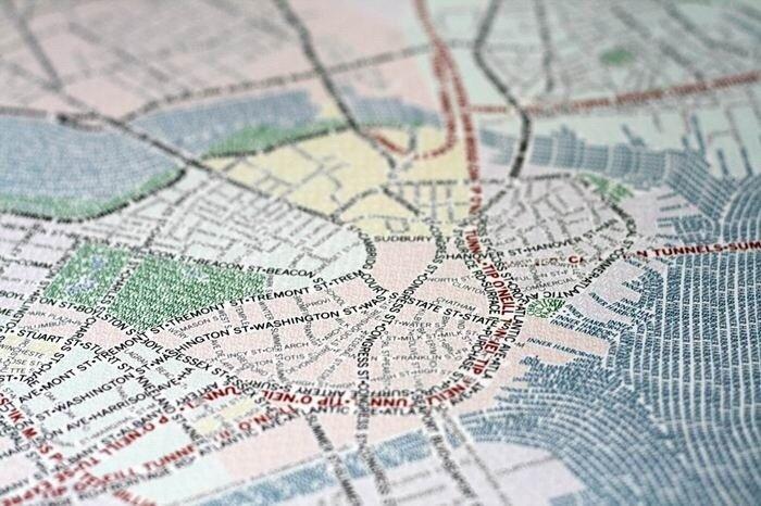 Туристические карты в типографике