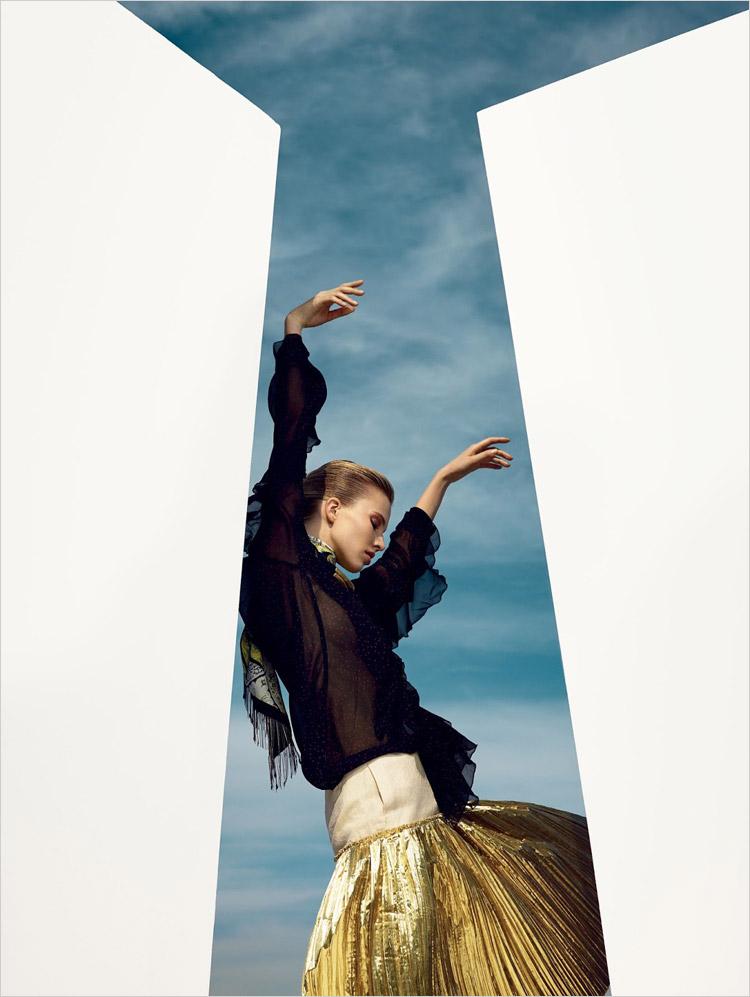 Саша Лусс в июньском Vogue China 2014