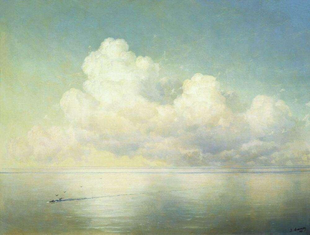 Айвазовский Иван Константинович. Облака над морем. Штиль. 1889