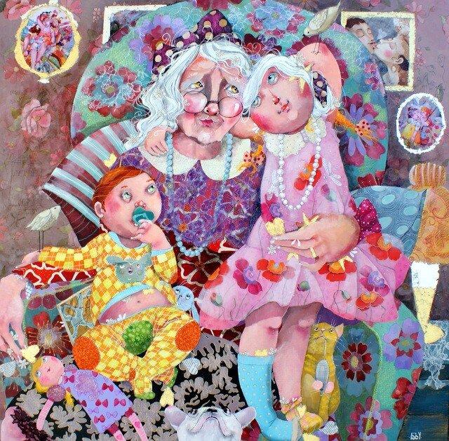 Днем марта, бабушка с внуками картинки прикольные