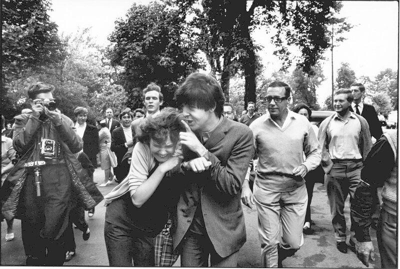 John 'Hoppy' Hopkins.London 1964, Paul McCartney enjoys being grabbed by fan