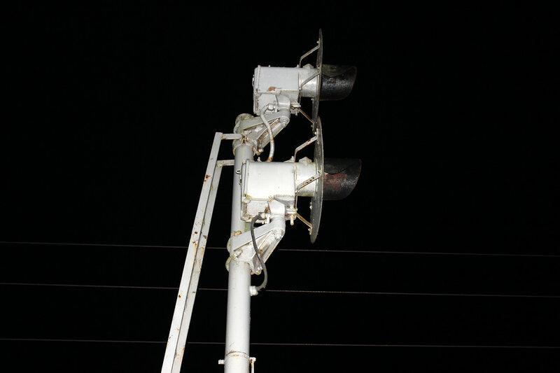 Прожекторный входной светофор Ч станции Рождествено, вид на Ржев