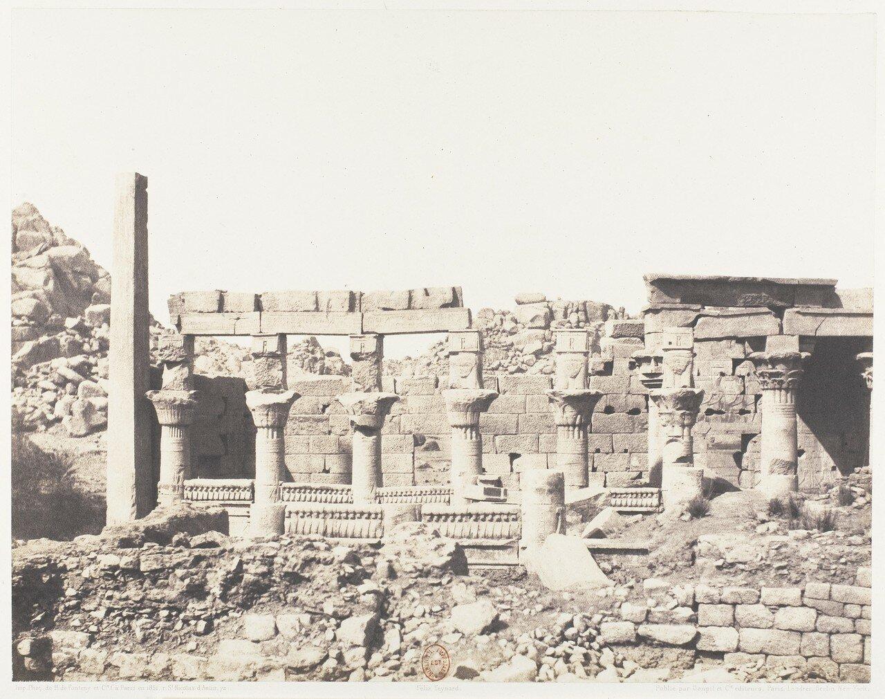 Остров Филе. Вид южной части колоннады храма Исиды с точки  «V»