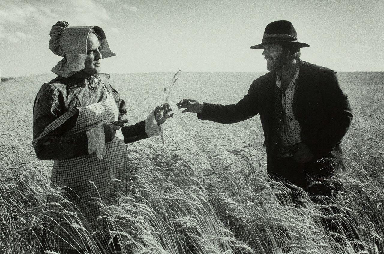 1976. Марлон Брандо и Джек Николсон на съемках фильма «Излучины Миссури»