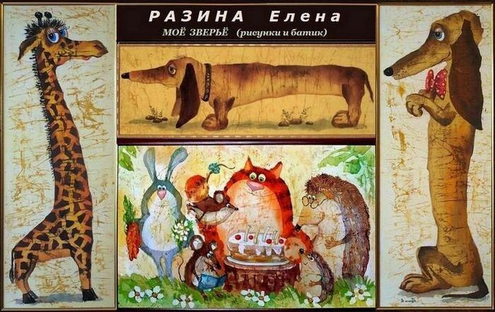 Художник Елена Разина, батик горячий и холодный