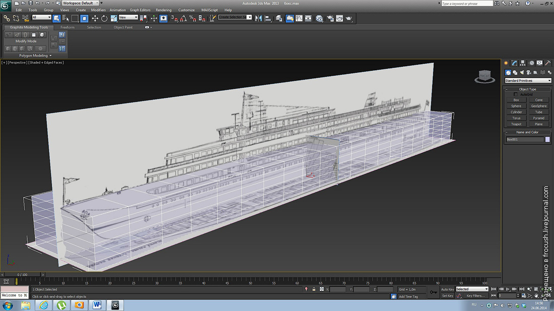 3D модель теплохода Александр Суворов