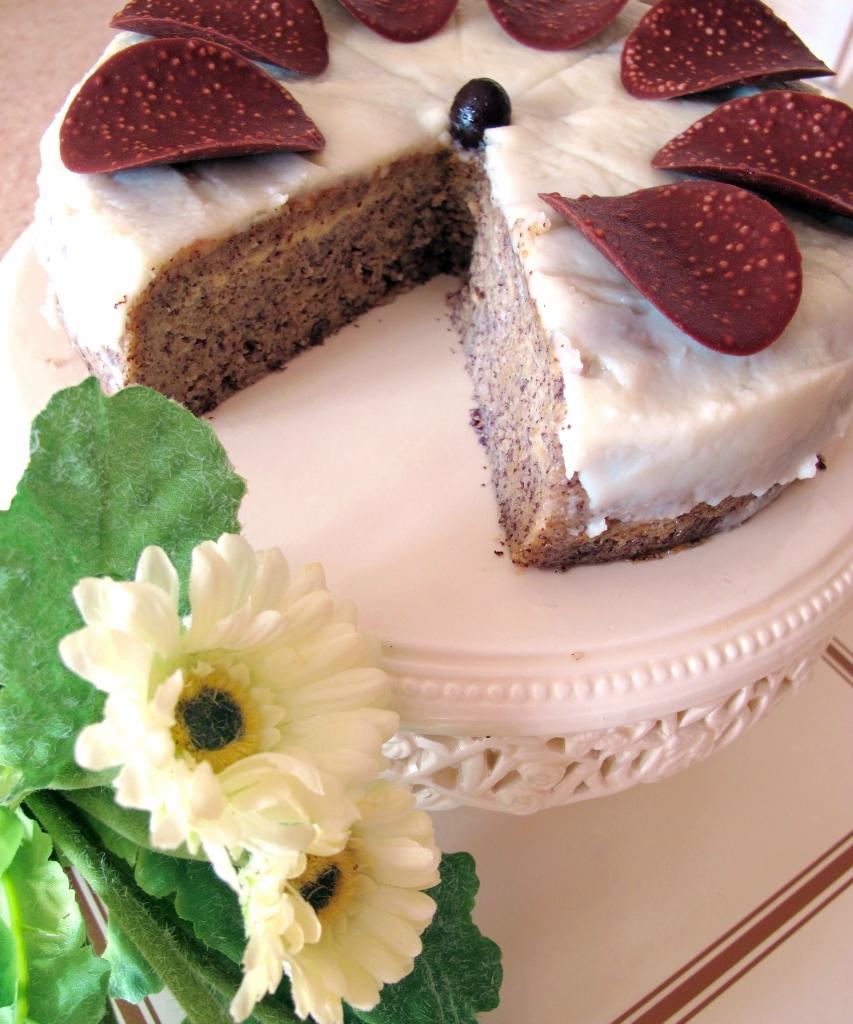 Торт яблочно-маковый