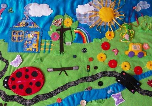 Детский развивающий коврик Семьландия... игровая зона Весна