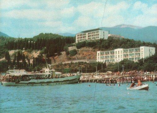 Крым. Алушта. 1971. Рабочий уголок. Вид с моря.