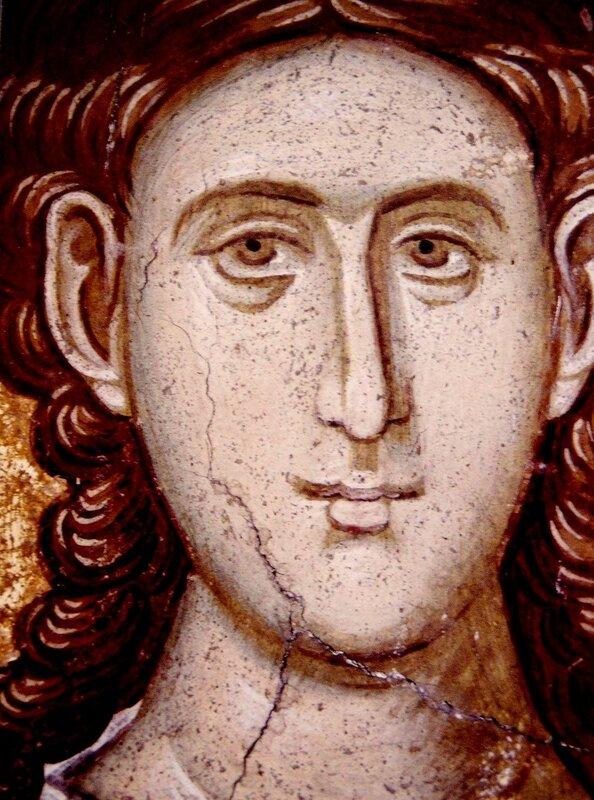 Святой мученик Александр Римский. Фреска монастыря Высокие Дечаны, Косово, Сербия. Около 1350 года.