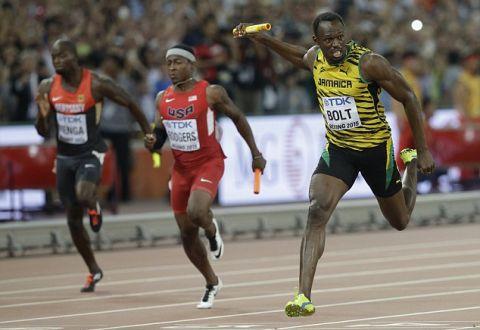 Ямайцы выиграли эстафету 4х100 метров встолице Китая, Болт стал 11-кратным чемпионом мира