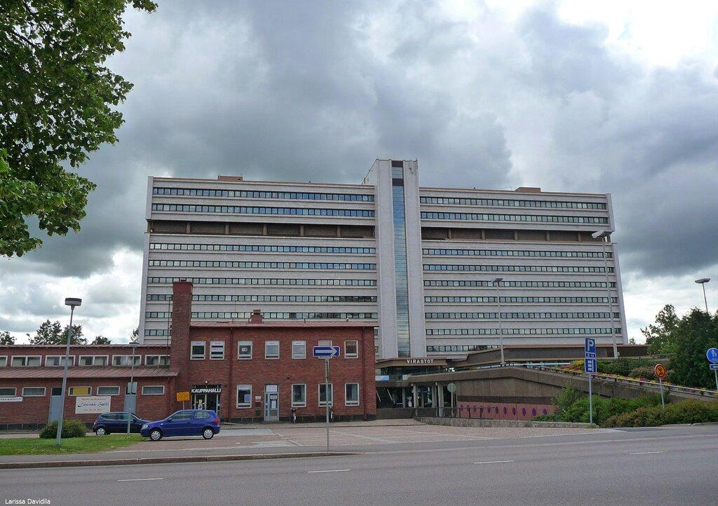 Здание разных офисов.