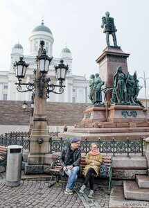 Свидание (Александр II, памятник, пара, свидание, Хельсинки)
