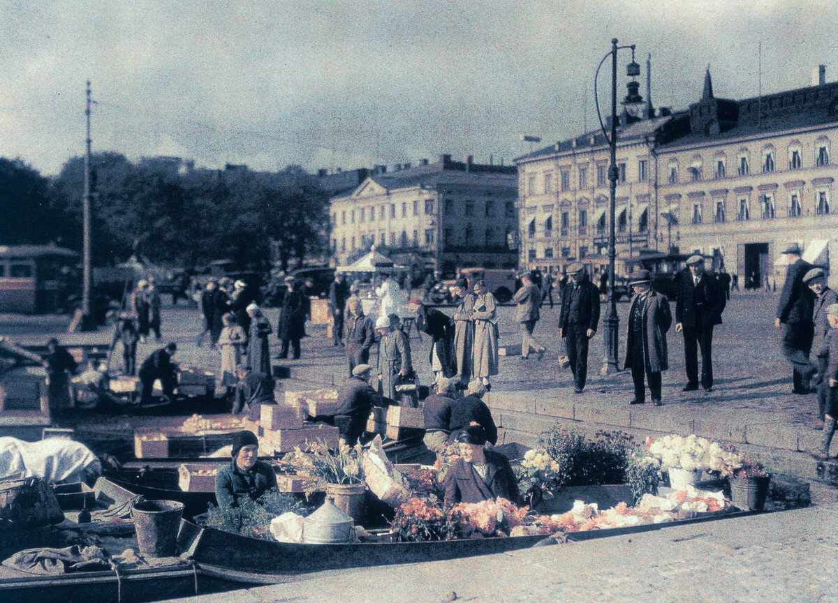 1934. Рынок на набережной, Финляндия